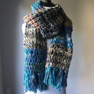 Free People Multi Color Fringe Scarf